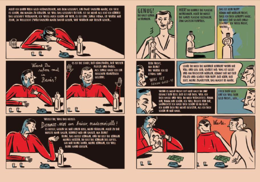 Doppelseite aus der Graphic Novel